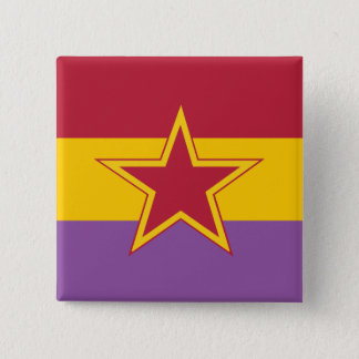 Communistische Partij van Spanje, Politiek Vierkante Button 5,1 Cm