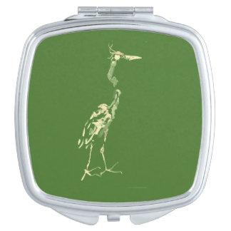 Compact, Groene Kleur Makeup Spiegels