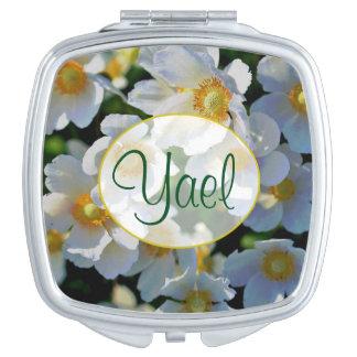 """Compacte Spiegel van de Bloesem van de Naam """"Yael"""" Make-up Spiegeltjes"""
