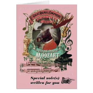 Componist van de Muziek van Moozart van de Parodie Briefkaarten 0
