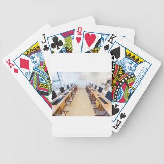 Computers in klaslokaal van Nederlands onderwijs Poker Kaarten