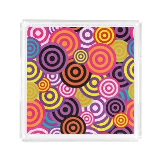 Concentrische Cirkels #2 Acryl Dienblad