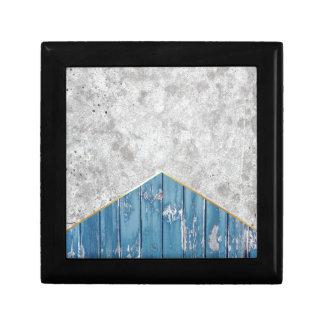 Concrete Pijl Blauwe Houten #347 Decoratiedoosje