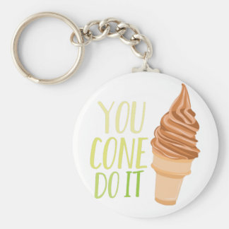 Cone Do It Basic Ronde Button Sleutelhanger