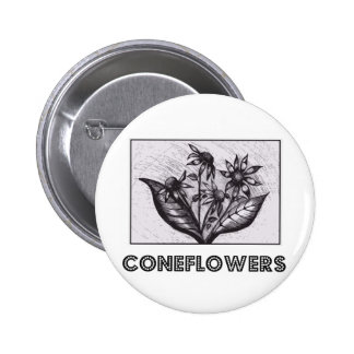 Coneflowers Speldbuttons