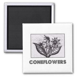 Coneflowers Vierkante Magneet