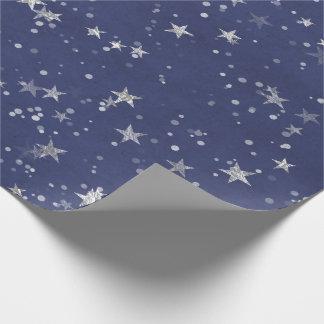 Confettien van de Marine van de sterrige Nacht de Inpakpapier