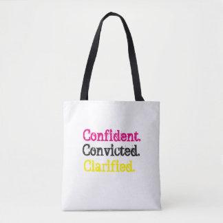 Confident.Convicted.Clarified de zak van het Draagtas