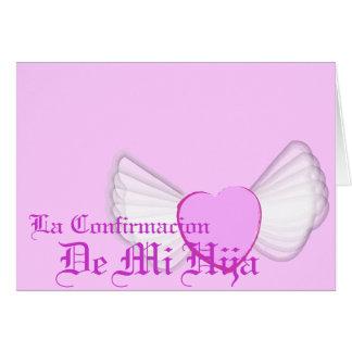 """""""Confirmacion"""" van mijn Dochter - pas aan Wenskaart"""
