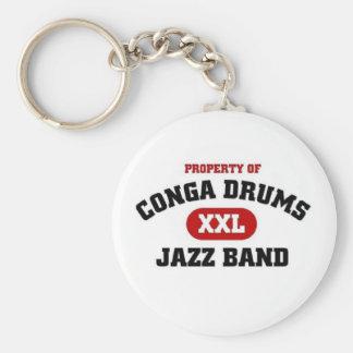 Conga trommelt xxl de band van de Jazz Sleutelhanger