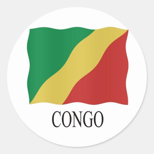 Congo Flag Ronde Sticker