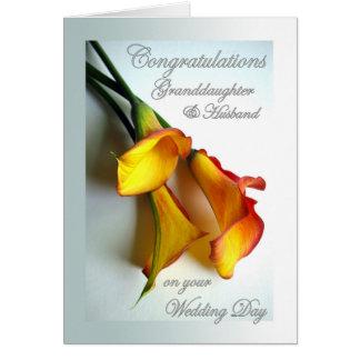 Congrats aan Kleindochter & Echtgenoot op Huwelijk Wenskaart