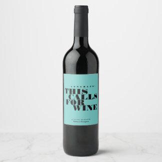 Congrats dit verzoekt Wijn | Viering Wijnetiket