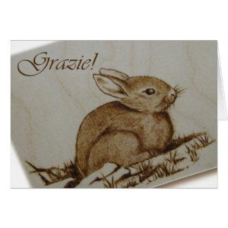 Coniglietto - Grazie! - Pirografia Briefkaarten 0
