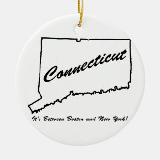 Connecticut - het is tussen Boston en New York! Rond Keramisch Ornament