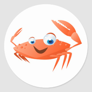 Connor de Krab Ronde Sticker
