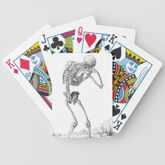 Contemplatieve Skelton Poker Kaarten