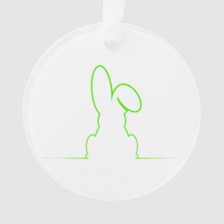 Contour van een lichtgroene haas ornament