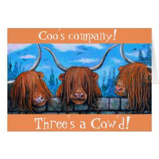 Coo Bedrijf, een cow'd. van Drie Briefkaarten 0