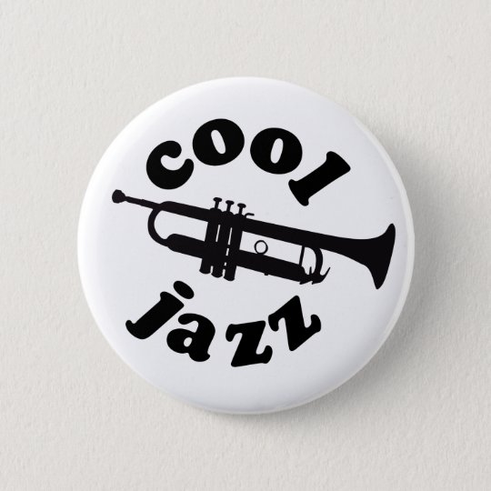 cool jazz print silhouette trumpet ronde button 5,7 cm