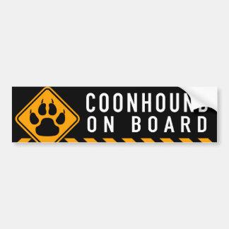 Coonhound aan boord bumpersticker