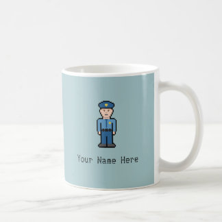 Cop van het Pixel van de Naam van de douane Koffiemok