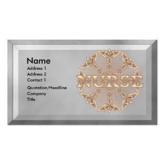 Copper Caduceus Star Nurse Business Card