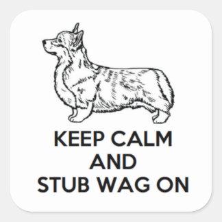 "Corgi ""houdt Kalme"" Stickers"
