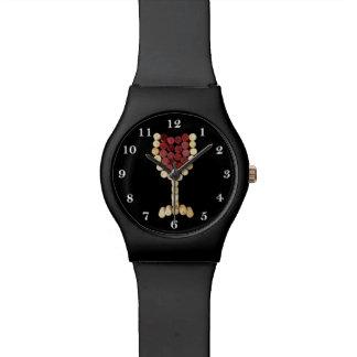 Cork het Horloge van het Glas van de Wijn