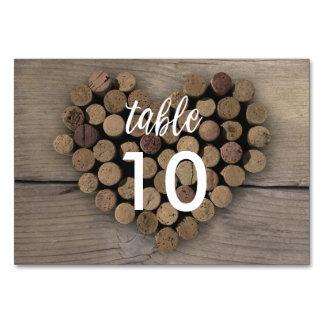 Cork van de wijn de Kaart van het Aantal van de