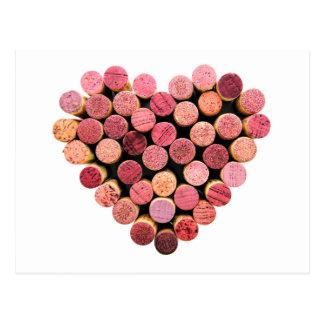 Cork van de wijn het Briefkaart van het Hart