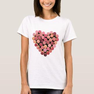 Cork van de wijn het Overhemd van het Hart T Shirt