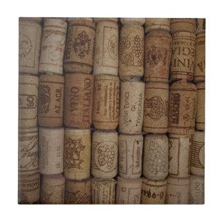 Cork van de Wijn van Italain Collectie Keramisch Tegeltje