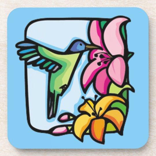 Cork van het art deco van de kolibrie onderzetter zazzle - Deco van de gang ...