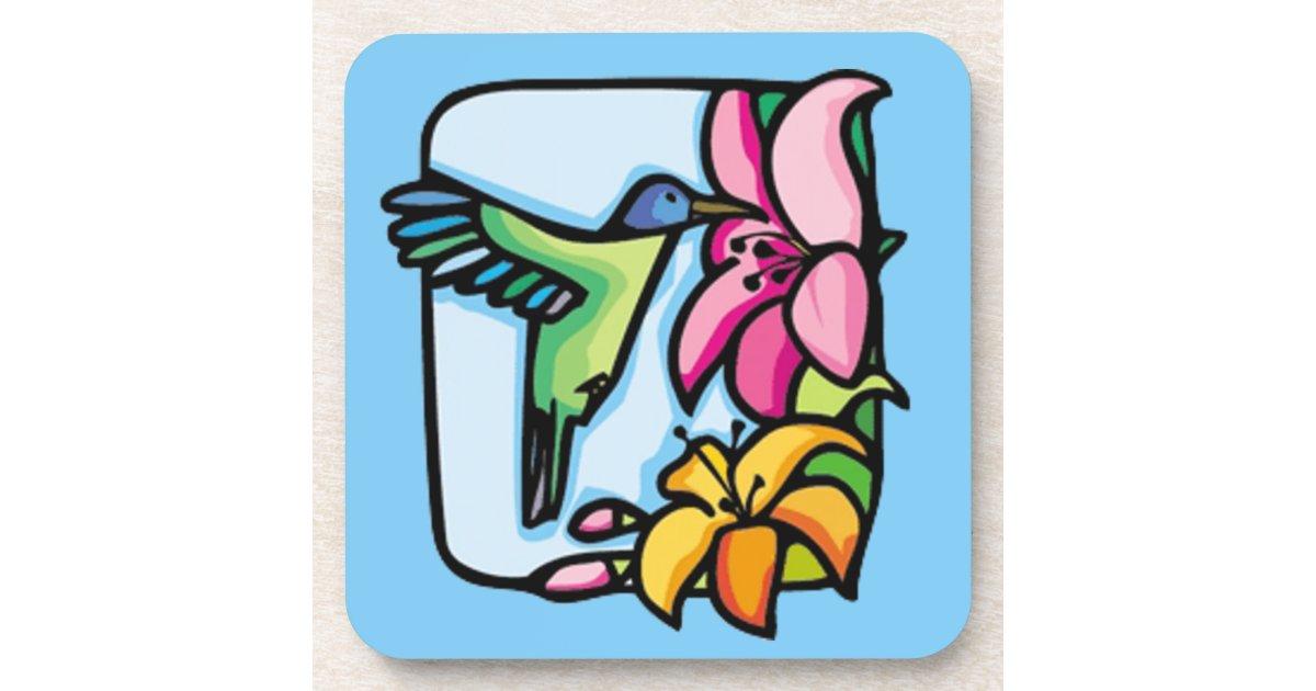 Cork van het art deco van de kolibrie onderzetter zazzle - Deco van het appartement ...