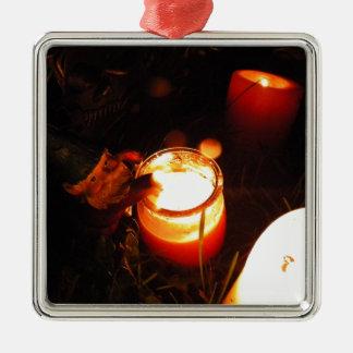 Cornelius Candle Zilverkleurig Vierkant Ornament