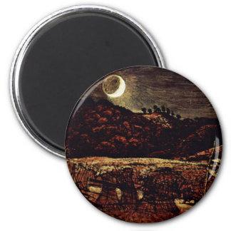 Cornfield in het Maanlicht door Palmer Samuel Magneet
