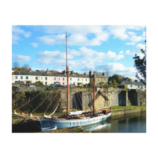 Cornwall Engeland Poldark van Charlestown Plaats Canvas Afdruk