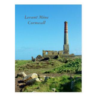 Cornwall Engeland van de Mijn van Levant Foto Briefkaart