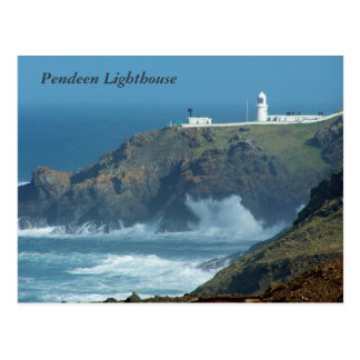 Cornwall Engeland van de Vuurtoren van Pendeen Briefkaart