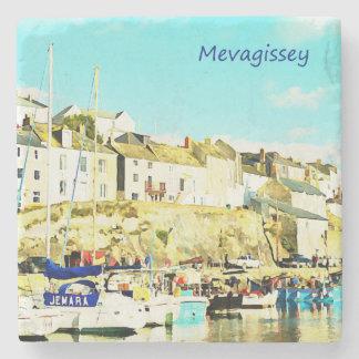 Cornwall Engeland van Mevagissey Waterverf Stenen Onderzetter