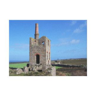 Cornwall het Huis van de Motor van de Mijn Canvas Afdrukken