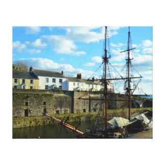 Cornwall het UK Poldark van de Haven van Canvas Afdruk