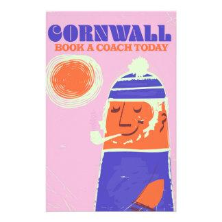 "Cornwall van een vissers het vintage poster ""neem briefpapier"