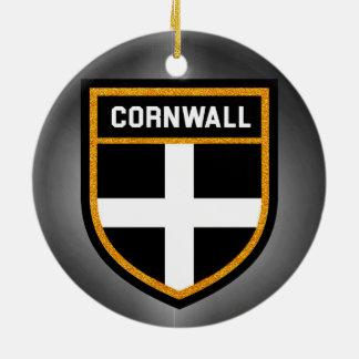 Cornwall Vlag Rond Keramisch Ornament