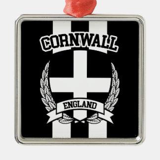 Cornwall Zilverkleurig Vierkant Ornament