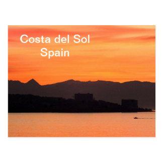 Costa del Sol, Spanje Briefkaart