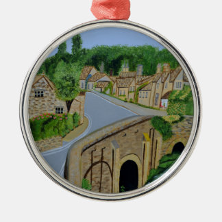 Cotswolds Engeland Zilverkleurig Rond Ornament