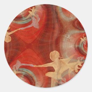 Couleur D'une Danse DE Ballet 3 Ronde Stickers