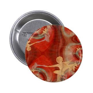 Couleur D'une Danse DE Ballet 3 Speld Buttons
